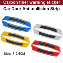 4pcs/lot Car styling Car Door Anti Collision Car Sticker carbon fiber Warning Signs Highlight Reflective Tape Auto Accessories warning caution mark anti collision prevention reflective open logo ho car auto motorcycle door trunk decal sticker car styling