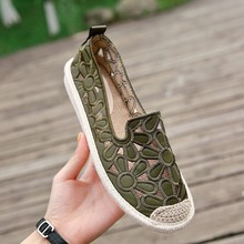 Summer Popular 2019 womens shoes new linen grass fisherman single white embroidered Korean version Shallow Yasilaiya