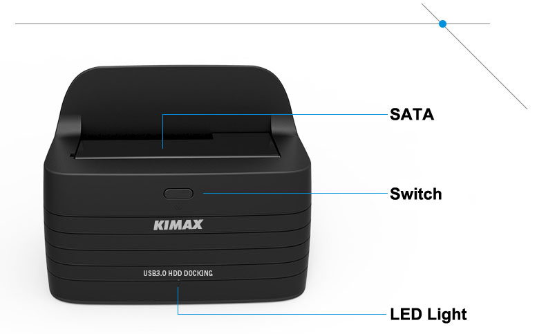New Products 1-Bay USB 3.0 To SATA3 Up To 6TB Chipset JMS567 Hdd Ssd Docking Station Support 2.5'' 3.5'' Inch HDD Up To 6TB HD08