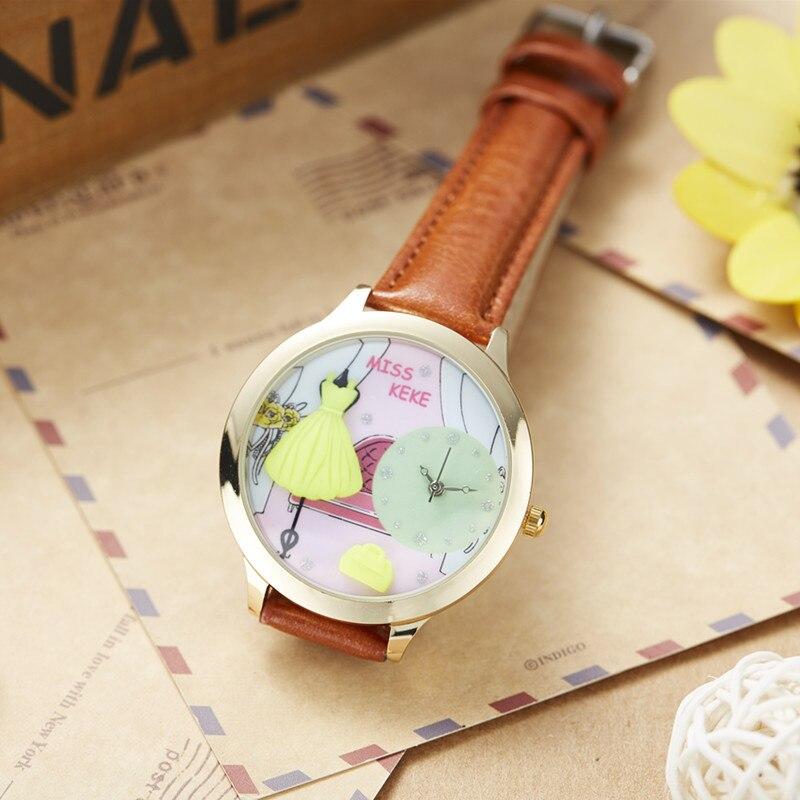 Orz Miss Keke 3d Clay Cute Yellow Feestjurken Horloges Relogio - Dameshorloges - Foto 4
