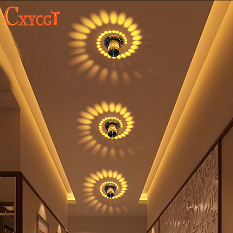 Creative wall light small led ceiling light for art for Balcony ceiling design