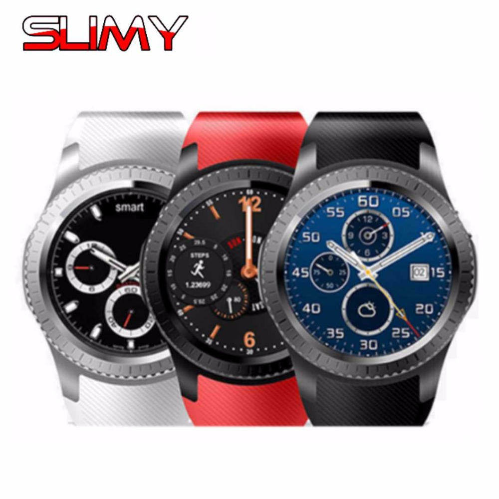 Slimy GW11S SIM Android 5.1 3G Smart Watch Phone MTK6580 Sport Wristwatch Bluetooth Heart Rate Wifi GPS Smartwatch PK KW88 potino d7 smart watch android 4 4 sim bluetooth 4 0 smartwatch 500mah gps wifi 3g heart rate monitor smart wearable devices