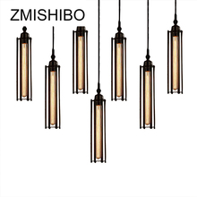 ZMISHIBO Vintage Pendant Lamp Suspension Luminary Vertical Lights Horizontal Tube Decoration Fixtures For Living Room