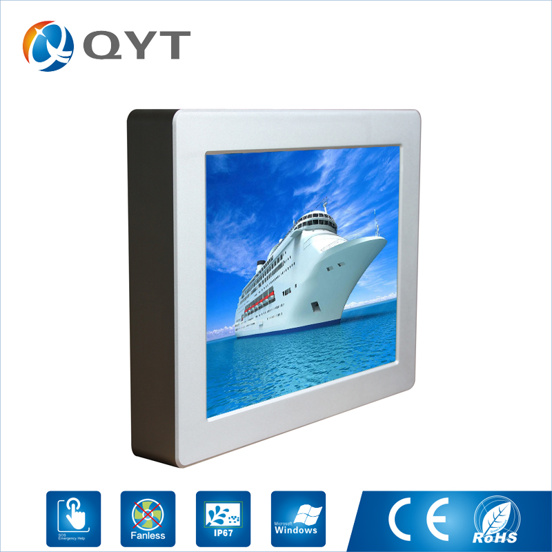 New Arrival Intel N2800 1.86GHz 4wire resistive touch waterproof 12 inch metal case all in one pc Fanless Industrial panel pc