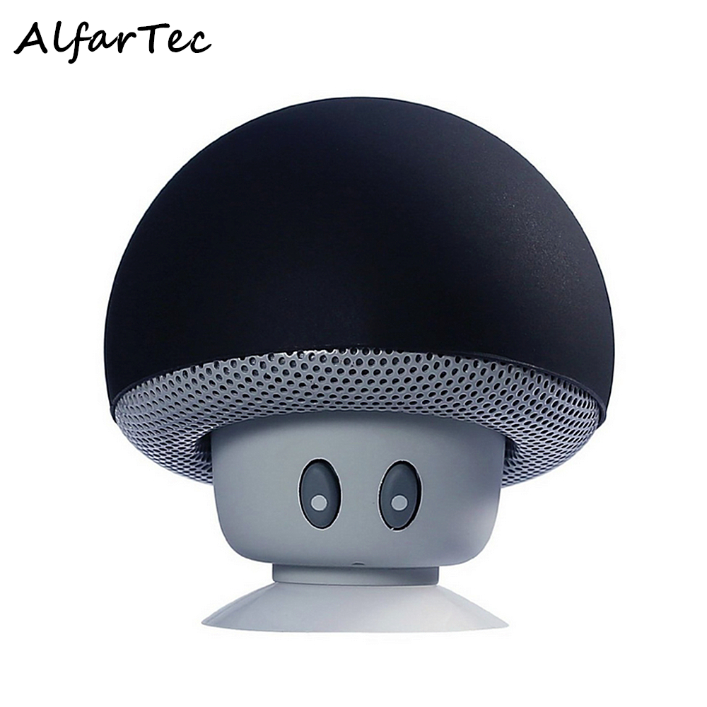 Wireless Mini Portable Mushroom Bluetooth Speaker Waterproof Stereo Holder Suction Cup Loudspeakers For IOS Android Smart Phone