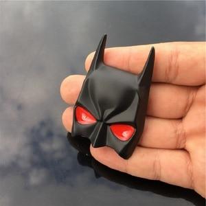 Image 3 - Masque 3D de Batman en métal, emblème de batman de voiture, décalque de moto, bouclier de pare chocs pour voiture, accessoires de stylisme