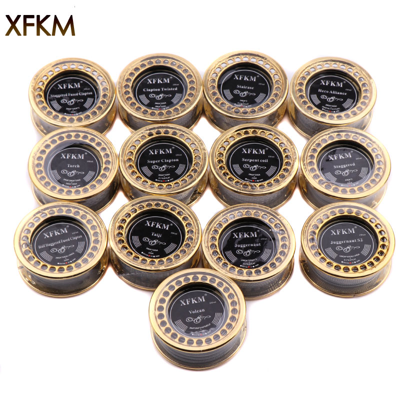 XFKM 5m/roll A1 Fused Clapton Juggernaut For RDA RBA Rebuildable Atomizer Electronic Cigarette Heating Wires Vape DIY Coil Tools