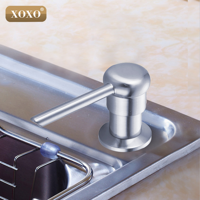XOXONew Bathroom Kitchen Liquid Soap Dispensers Plastic Bottle Sink Replacement Hand Liquid Soap Dispensers Spray 2302