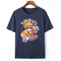 2017 Zomer Nieuwe Mode Merk Kleding Tshirt Mannen Super Mario Bros Wario Print T-shirt Korte Mouw Casual T-Shirts