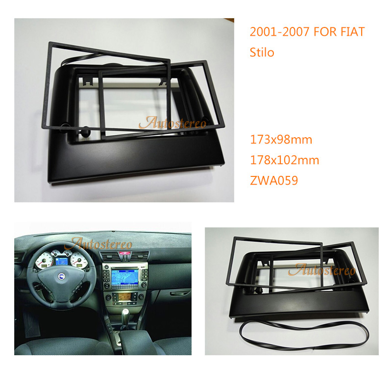 Car Stereo Radio Fascia Plate Panel Frame Kit For FIAT Stilo 2001-2007 Stereo Fascia Dash CD Trim Installation Kit ZWA 11-059 11 405 car radio dash cd panel for kia skoda citigo volkswagen up seat mii stereo fascia dash cd trim installation kit