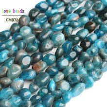 6-8 мм натуральный нерегулярный Синий Апатит камень бусины для самостоятельного изготовления ювелирных изделий браслет 15''Strand Loose Spacer Бусины