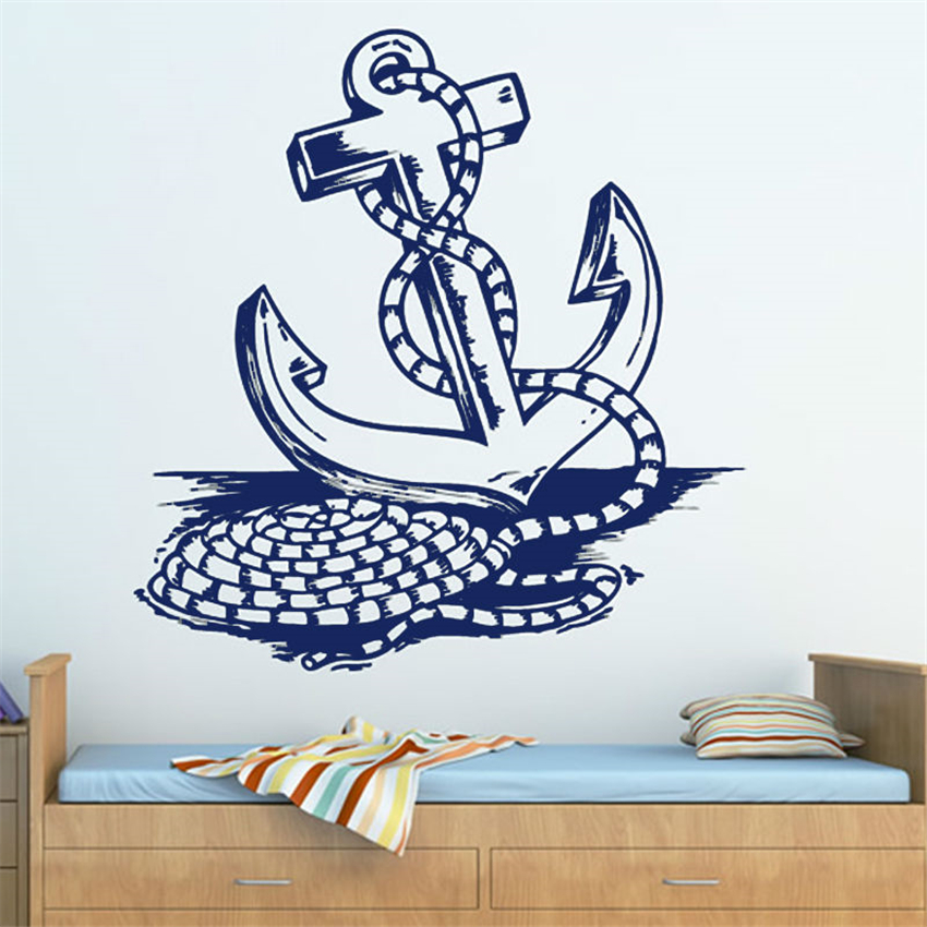 Wall Stickers Cooperative Rope And Anchor Wall Decoration Kids Bedroom Living Room Decal Vinyl Self Adhesive Home Decal Wall Sticker U10 Dependable Performance