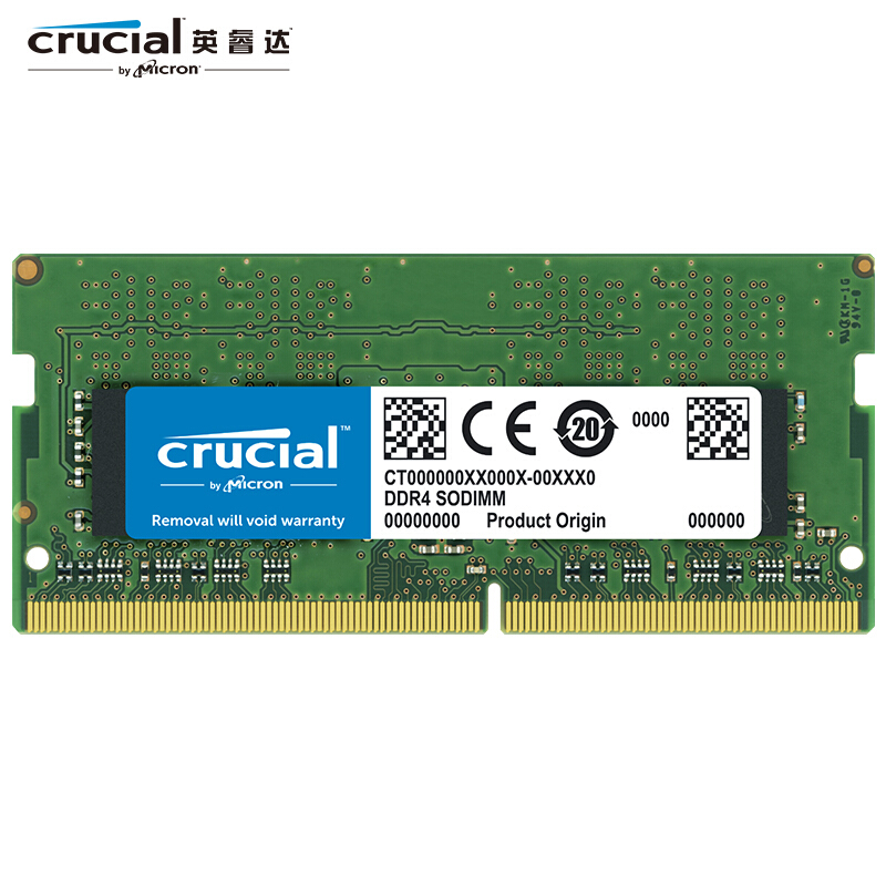Crucial 8G <font><b>16G</b></font> <font><b>DDR4</b></font> RAM 2666 MT/s (<font><b>PC4</b></font>-<font><b>21300</b></font>) SR x8 SODIMM RAM 1.2V 260-Pin For Laptop image