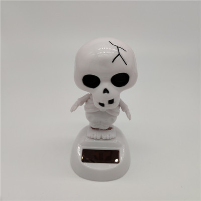 Новинка Солнечная игрушка ed танцующий откидной клапан качающийся головой игрушки для детей солнечная игрушка энергия фигурка игрушки - Цвет: White skeleton