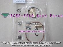 Free Ship Turbo Repair Kit rebuild GT1749V 717858 717858-5009S Turbocharger For AUDI A4 A6 SKODA Superb VW PASSAT AWX AVF 1.9L