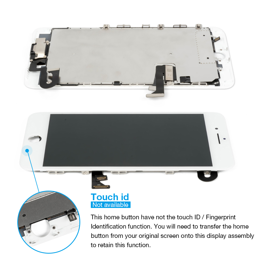 HTB1eIo8XtfvK1RjSszhq6AcGFXa4 1Pcs OEM LCD For iPhone 7 7 Plus Display Full Set Digitizer Assembly 3D Touch Screen Replacement +Front Camera+Earpiece Speaker