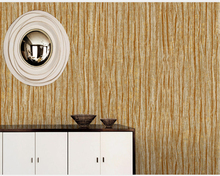 beibehang papel de parede Modern and simple 3D vertical bar wood grain non-woven wallpaper  for walls 3d papier peint wall pape