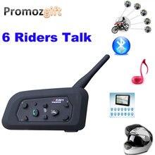 1 * V6 1200 м 6 гонщиков BT мульти домофонных Bluetooth интерком беспроводные гарнитуры наушники аксессуары гарнитура шлем