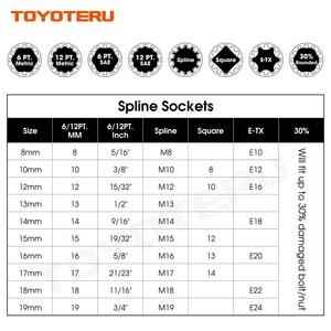 Image 3 - 10PCS Gear Lock Sockets Wrench Auto Repair Tool Hand Tool Set Socket Set 1/2 Inch Size 8mm 19mm