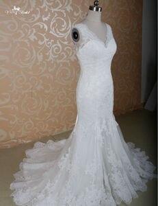 Image 3 - RSW771 Elegant Fitted Lace Sexy Mermaid Wedding Dresses Mermaid Cut