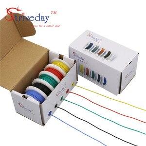 Image 5 - 26AWG 50 m/kutu Esnek Silikon kablo tel 5 renk Karışımı kutusu 1 kutu 2 paket Kalaylı Bakır telli tel Elektrik Telleri DIY