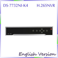 In stock Free shipping DS-7732NI-K4 english version 32CH NVR with 4SATA ,4K NVR up to 8MP