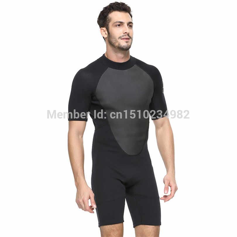 SBART 2MM Tek Parça Neopren Wetsuit Erkekler Sıcak Tüplü dalgıç kıyafeti Triatlon Wetsuit Soğuk Su Yüzme Sörf Şnorkel