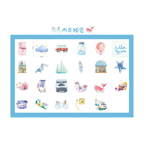 Image 5 - 20packs/lot Cartridges Stickers Go To The Beach To Travel Pocket Account Album DIY Decorative Sealing Stickers