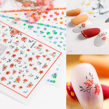 Newest MGM-514 mixed flower design nail manicure back glue decal decoration sticker
