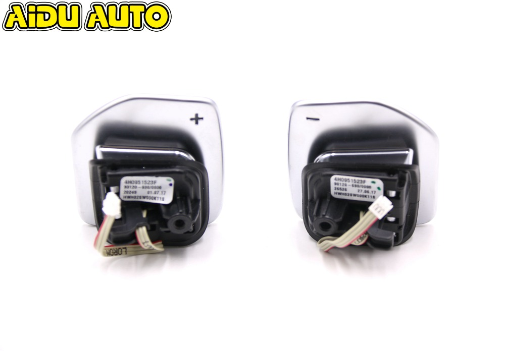 For Audi A1 A3 A4 A5 A6 A7 A8 Q3 Q5 Q7 Tiptronic black high-gloss chrome Steering Wheel Shift Paddle 4H0 951 523 F 4H0951523F