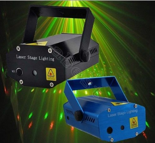 NEW Mini  LED R&G Galactic DJ Laser Stage Lighting Disco Party Club PUB KTV holiday laser light*mini three Color Twinkling Star