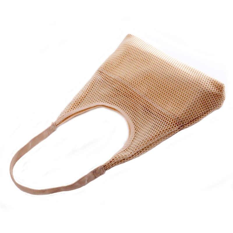 Bolso de compras de malla de mujer bolso de hombro de lona bolso de mano de moda Eco Shopper señora monederos bolso Casual