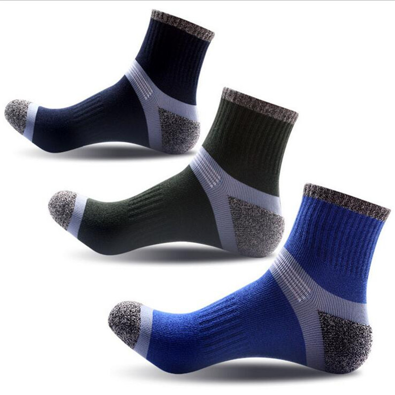 1 pair High Quality Men Sock Thick Cotton COOLMAX Mens Socks Foot  Wear Thermal/Thick Warm Socks Brand Socks