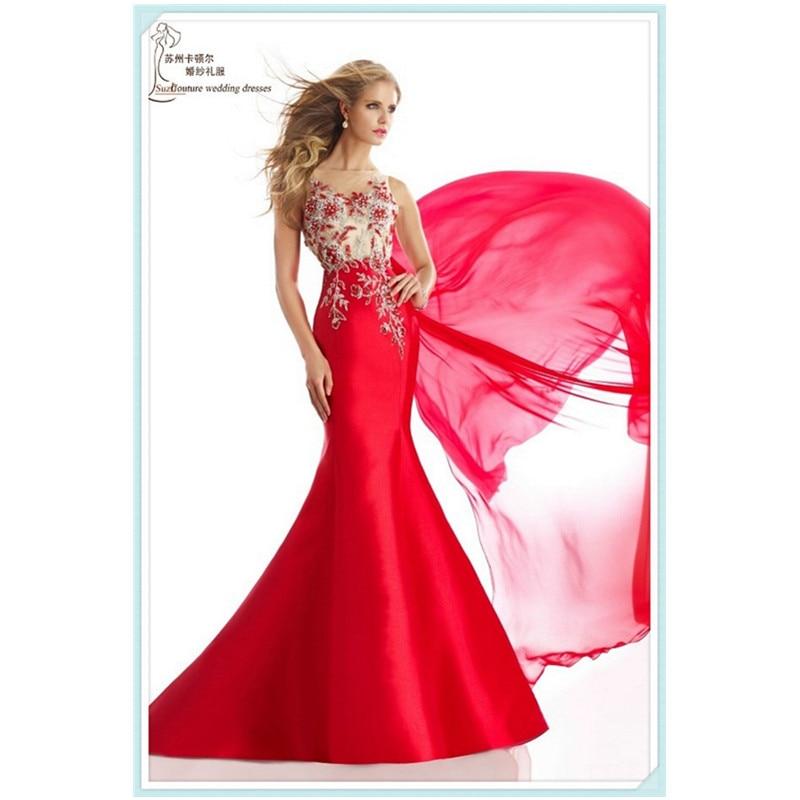 9f6428161 Largo De la sirena vestidos fiesta 2016 vestidos elegantes rojo Vestido De fiesta  Vestido De Gala Sexy transparentes vestidos volver fiesta De la compra De  ...