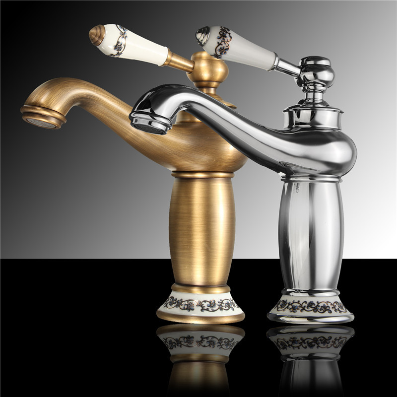 Aliexpress.com : Buy Xueqin Antique/Silver Concise Bathroom Faucet ...