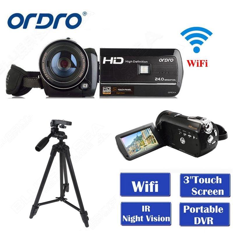 """ORDRO HDV-D395 Full HD 1080P 18X 3,0 """"skārienjūtīgs digitālais videokamera + statīvs Bezmaksas piegāde"""
