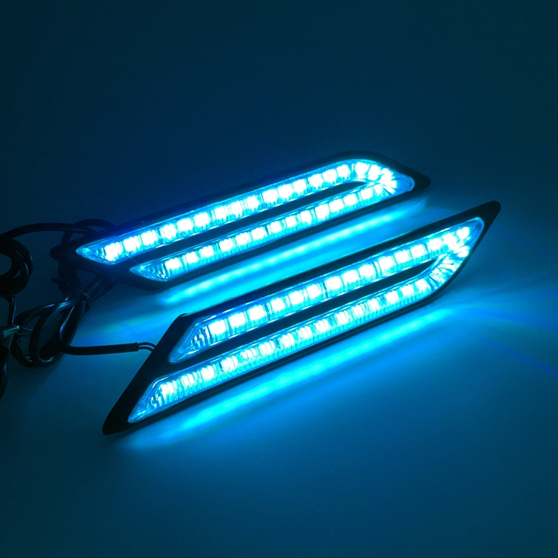 Tak Wai Lee 2X LED DRL Kørelys dagtimerne bilbremser styring - Billygter - Foto 6