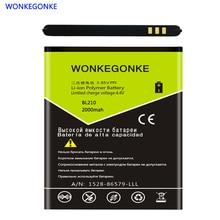 WONKEGONKE BL210 Battery For Lenovo A536 S820 A606 A656 S650 S820E A766 A828t BL