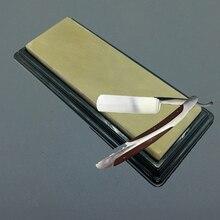 Бритвенный нож для педикюра точильный камень натуральный желтый пульпстоун 14x5x1 см