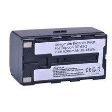 1 Pc 7.4 V 5200 mAh BT 65Q BT 65Q ליתיום סוללה עבור Topcon GTS 900 וgpt 9000 תחנת סך הכל