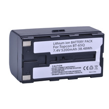 1Pc 7.4V 5200mAh BT 65Q BT 65Q Li Ion Battery for Topcon GTS 900 and GPT 9000 Total Station