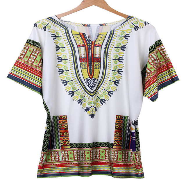 7242ce9c4b5 New Sexy Women Summer Traditional African Print Half Sleeve V Neck Mini  Dress Straight Geometric Vintage