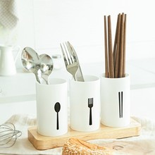 European high-grade oak base tableware box kitchen draining chopsticks tube 24*13*9cm