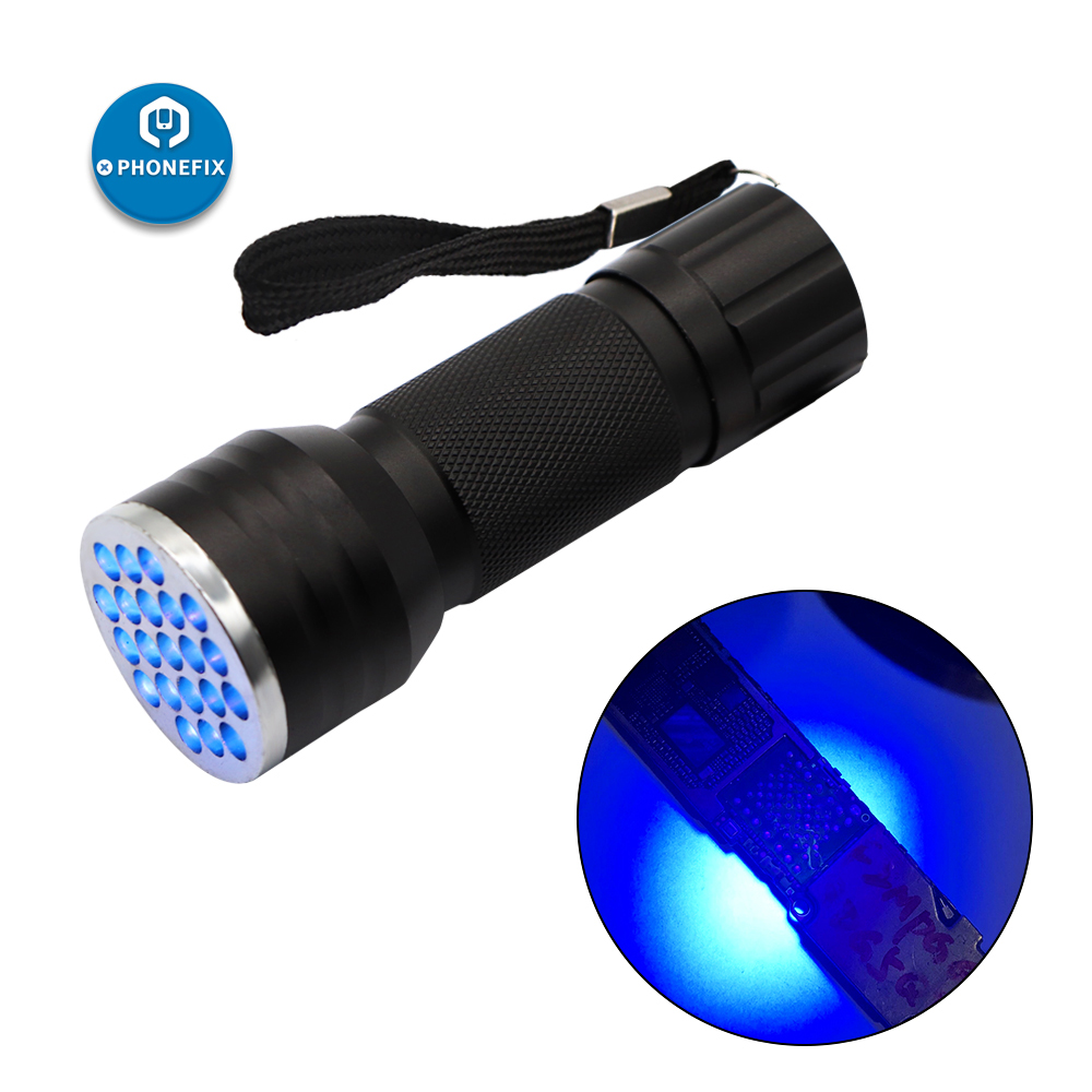 PHONEFIX Phone Repair Ultraviolet Torch Fast UV Glue Curing LED Light Dryer , Money Detector Detecting Fluorescent Substances
