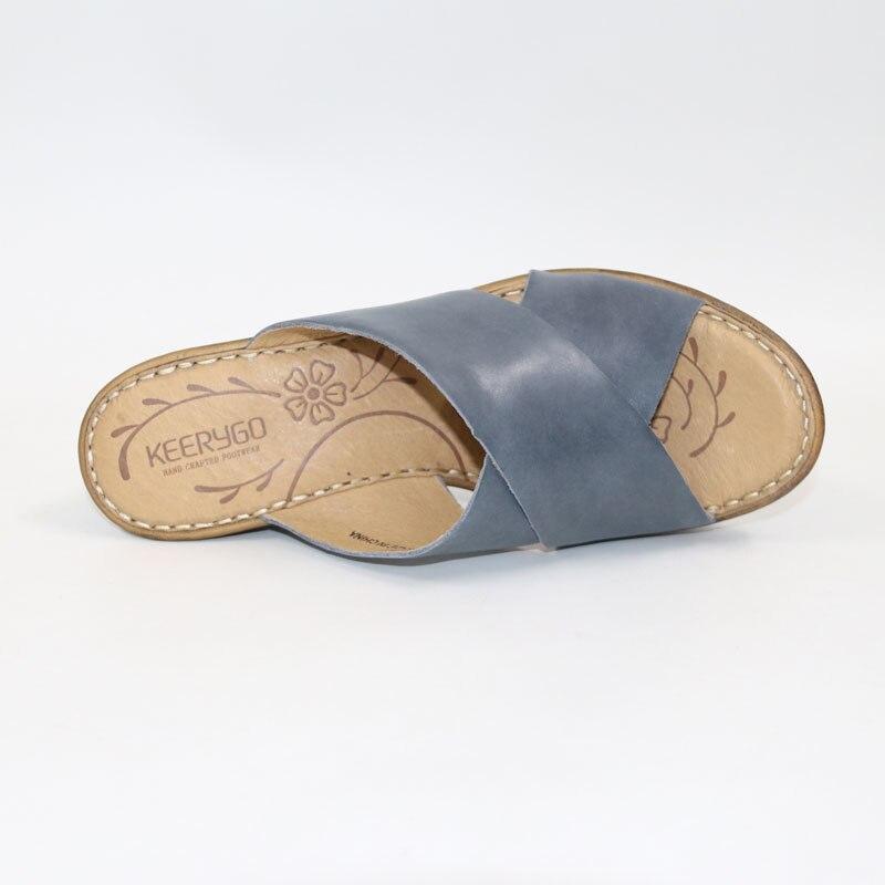 Noir Gamme Pieds Des Haut bleu Chaussures Pantoufles À De Peau Nouveau Vache Main SandalesClassique jaune En Keerygo Femmes La Sandales CuirConfortable uK5FcT3lJ1