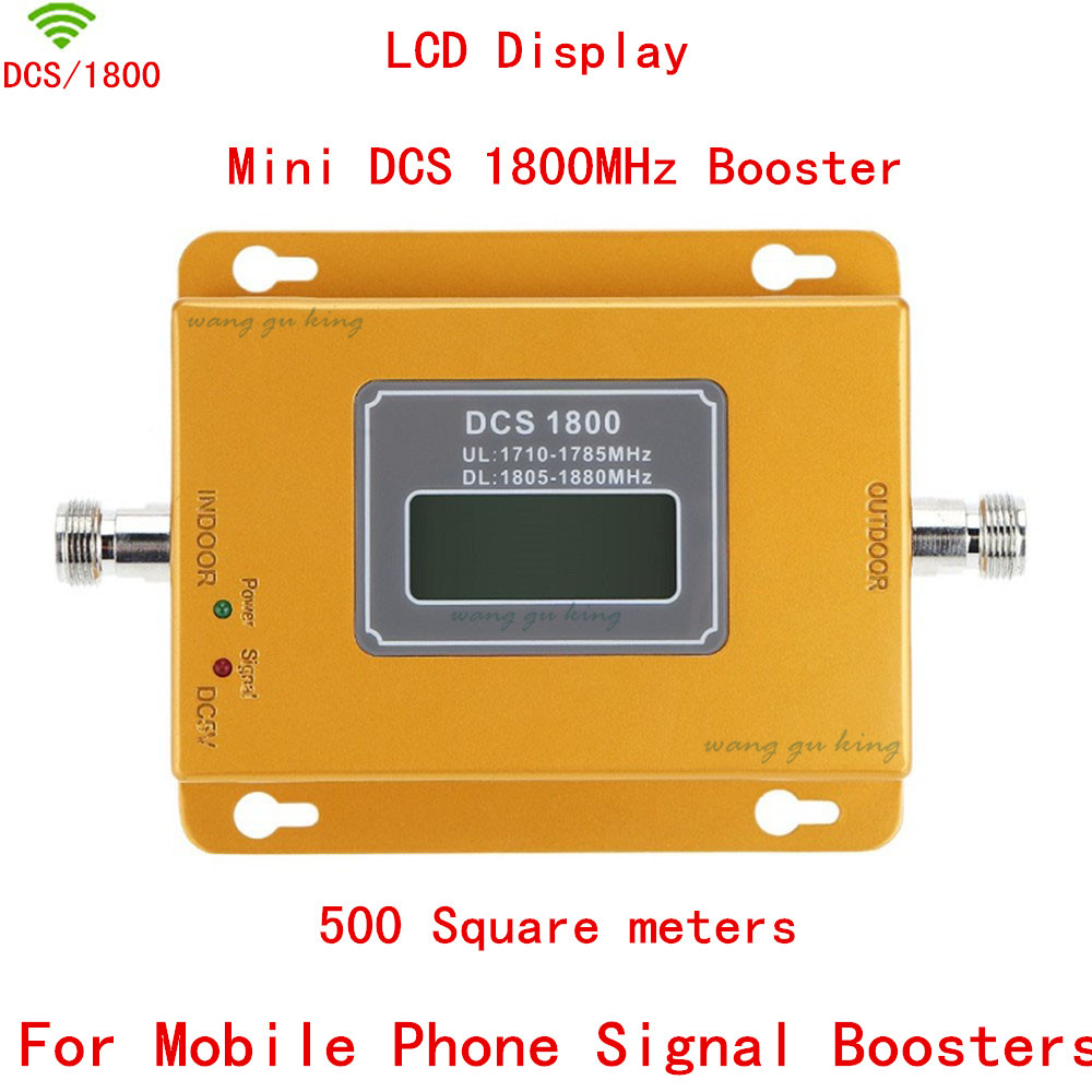 LCD Display 70dB Gain ALC GSM 1800 mHz Cell Phone Signal Repeater 4G DCS 1800 Mobile Phone Amplifier GSM Cellular Signal Booster