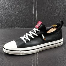 CuddlyIIPanda 男性ファッションカジュアルシューズユーストレンド本革通気性レジャーストリート靴男性高級デザイナー靴