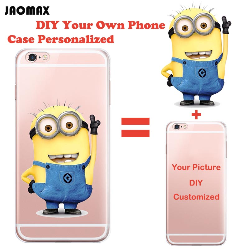 official photos 0602f 1a384 Personalized Custom Design DIY Silicone Case For iPhone 6 6S 6 Plus 6s Plus  5 5S SE 7 7 Plus Customized Transparent Cell Cover on Aliexpress.com | ...