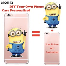 Personalized Custom Design DIY Silicone Case For iPhone 6 6S 6 Plus 6s Plus 5 5S SE 7 7 Plus Customized Transparent Cell Cover