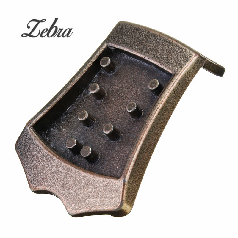 Zebra Metal Triangle <font><b>8</b></font> <font><b>Strings</b></font> <font><b>Guitar</b></font> Mandolin Tailpiece For Musical Instruments <font><b>Guitar</b></font> Replacement <font><b>Parts</b></font> Accessories image